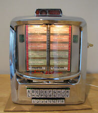 Working Seeburg S-3W160 Wallbox Jukebox Shiny Chrome - 160 Selections
