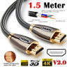 Premium HDMI 4K Cable v2.0 High Speed Video Lead 3D Ultra HD 2160p 1.5M