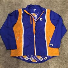 Rabobank Mens Jacket Size XXL Vintage Cycling Team Jersey Full Zip Windbreaker