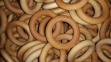 20 Maple Wooden 2.5 Inch Rings - Beeswax / Olive Oil