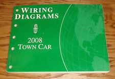 Original 2008 Lincoln Town Car Wiring Diagrams Manual 08