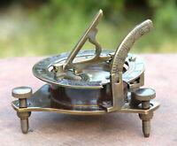 Antique Brass Astrolabe Working Compass Vintage Marine Decor