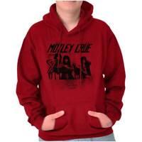 Motley Crue Santa Monica Cali Rock Concert Adult Long Sleeve Hoodie Sweatshirt