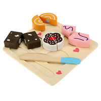 Kitchen Wooden Play Set Cutting Food P9X1