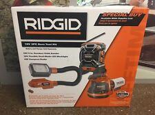 3-Pc Ridgid R9618SB 18-volt Lithium-ion Cordless Compact Radio Bare Tool Combo