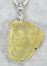LIBYAN DESERT GLASS PENDANT $119 Tektite 925 Sterling Jewelry STARBORN LG119-P3