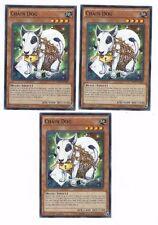X3 YUGIOH CHAIN DOG BP03-EN080 COMMON 1ST  ED