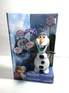 """Frozen Stretch & Slide Olaf Snowman Talking Toy Mattel 9"""" New"""