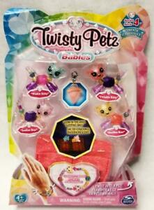 Twisty Petz Babies 4 Pack Kitties and Bears Transforming Jewelry Toys