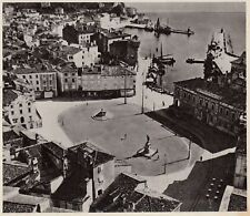 D5009 Slovenia - Pirano - Piazza Tartini - Stampa d'epoca - 1938 vintage print