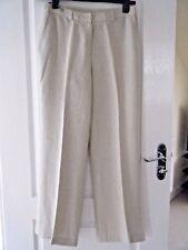New beige linen trousers size 12