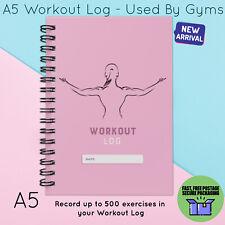 Registro de entrenamiento A5 Dieta & Pérdida de peso diario de registro Gimnasio Ejercicio De Uso Casero Pink Lady