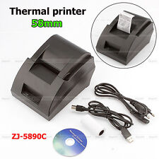 Mini DC 12V 3A 58MM POS/ESC Cash register USB thermal Dot Receipt Printer tool