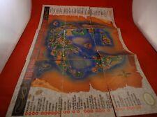 Dragon Warrior IV Nintendo NES Map Foldable Poster Insert ONLY C1 *DAMAGED* DW 4