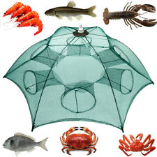 Foldable Fishing Bait Trap Crab Net Crawdad Shrimp Cast Dip Cage Fish Minnow Hot