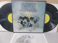 DG 2707 109 UK STEREO- BEETHOVEN - SYMPHONIES NO 8 & 9 BOX SET 2-LP BPO KARAJAN