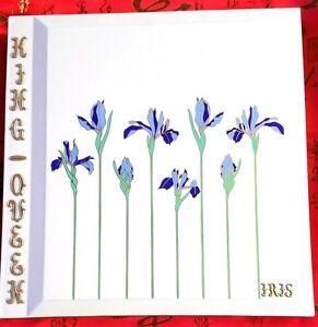 "Elegant Vtg 12"" Otagiri Mardi Gras Krewe ""Iris Rhapsody"" Photo Album Scrapbook"