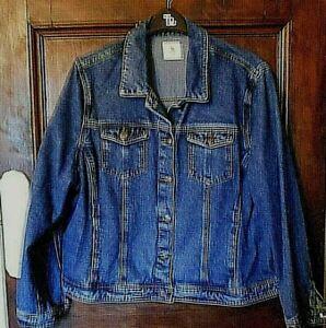 *TU* Womens MID WASH DENIM JACKET / COAT Size 22 NEW Mid Blue