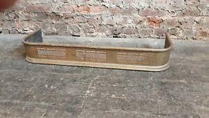 Victorian Vintage Pierced Brass Fender. Fireside Curb.