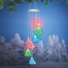 Solar Lighted Christmas Trees Porch Yard Hanging Dangler