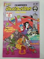 FILMATION'S GHOSTBUSTERS #1 (1986) FIRST COMICS 1ST PRINT! TMNT BACK COVER!