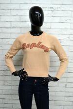 Maglione Donna CALVIN KLEIN Taglia M Pullover Lana Sweater Woman Maglia  Beige 5e58ce7e01f1