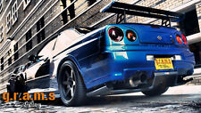 Nissan Skyline R34 CARBON Rear Diffuser / Undertray for Racing, Aero v6