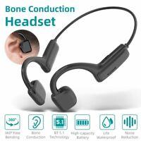 Wireless Bluetooth 5.1 Earphones Bone Conduction Headset Sport Headphones Mic