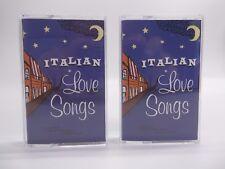 Italian Love Songs  Lot of 2 Cassettes (Tape 1 & Tape 2)