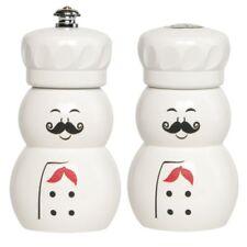 """Fletchers' Mill 4"""" Mini Chef Pepper Mill / Grinder & Salt Shaker Set"""