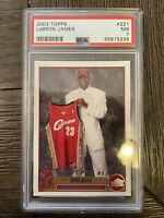 2003 Topps Lebron James #221 Rookie Card PSA 7 NM