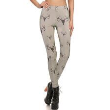 2017 Gray Boho Bohemia Printed Fitness Leggings Women Slim Pencil Pants Size M