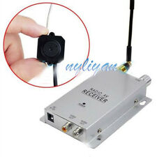 Mini Wireless 1.2G Nanny Micro CCTV Camera Transmitter with Receiver Full Kit
