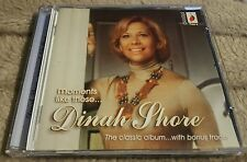 Dinah Shore - MOMENTS LIKE THESE  CD. Excellent condition.
