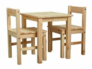 Habitat Scandinavia Solid Wood Kids Table & Chairs - Pine