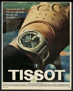 1968 Tissot Visodate Seastar watch with blue dial photo vintage print ad