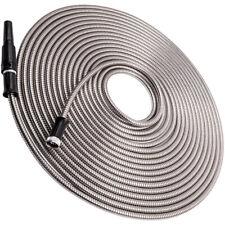 Garden Water Hose Watering Pipe 75Ft Aluminum Flexible Stainless Steel