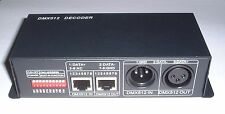 boxed 4 channel  DMX LED controller 4 Amp/channel  XLR / RJ45 INPUT  UK stock