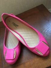 ladies shoes fuschia pink worn once only
