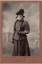Fashion Feather Hat Wool Coat Leather Gloves Girl WARREN PA Savage Studio Photo