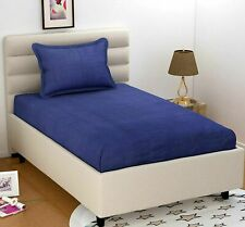1 Pcs Bed Sheet Solid Soft Microfiber Sheets Navy Blue Bed Sheet Home Dressing