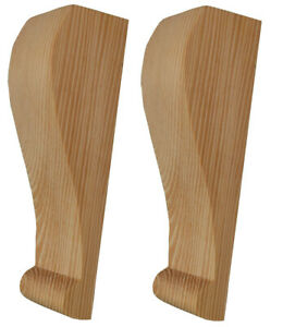 Slimline Zen Wooden Corbels, in Pine Wood (Supplied as a Matched Pair) PN387