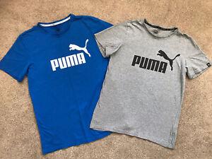Boys Puma T-shirts X2, Grey Size XL-14, Blue XXL-15, Excellent Condition