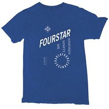 Fourstar TYPEFACES MINERAL Mens 100% Cotton T-Shirt Medium Royal NEW