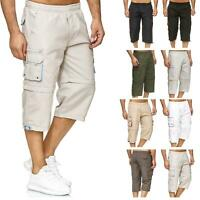 New Mens Long Shorts 2 In 1 Casual Cargo Combat Pants Knee Length Big King Sizes