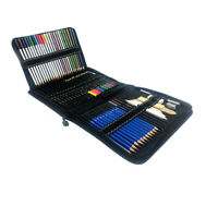 Drawing Pencil Set Professional Paint Colouring Sketch Art Kit 73pc Zipper Case