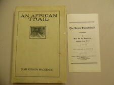 1917 An African Trail Brave Hunchback Africa Missionary Book Pamphlet Lot Congo
