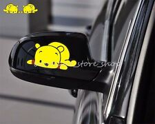 2PC Winnie the Pooh mirror rearview vehicle random body car stickers wall Decals