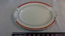 "Crown Potteries Co USA  Design / Gold Trim  11.5"" X 8 3/4"" Oval Platter"