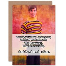 Funny Monkees Joke Blank Greeting Card With Envelope